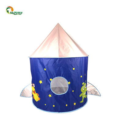 Rocket ship play pop up castle tent for little boys 3-6 ages polyester fabric G-001