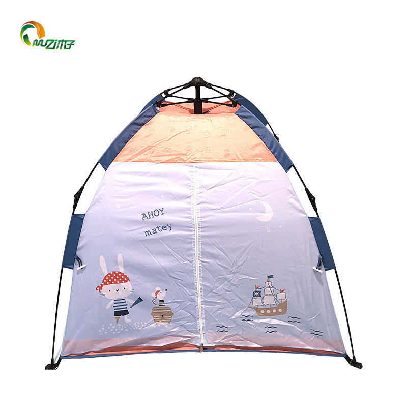 Spring glass fiber pole m-001 210d oxford fabric whale theme kids play tent indoor