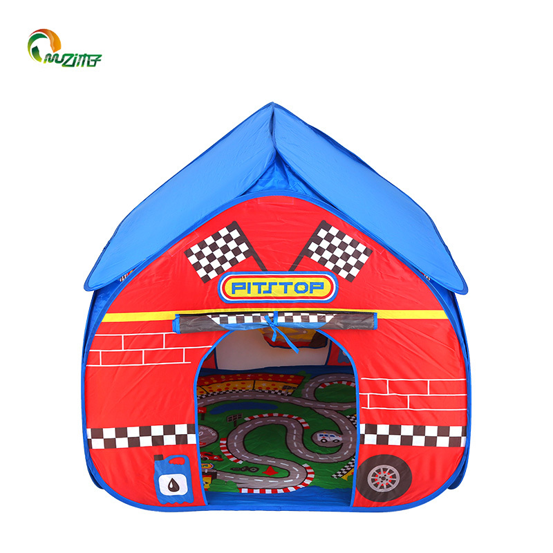 pop up tent indoor pop it up childrens play tent with a unique printed play floor toy play tent polyester fabric  with printing s-007