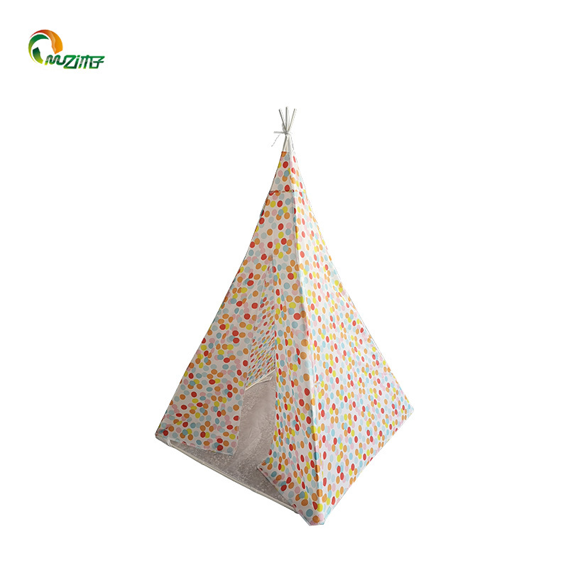 Small dot pattern polyester PVC frame Indian ins style best kids play tents U-003