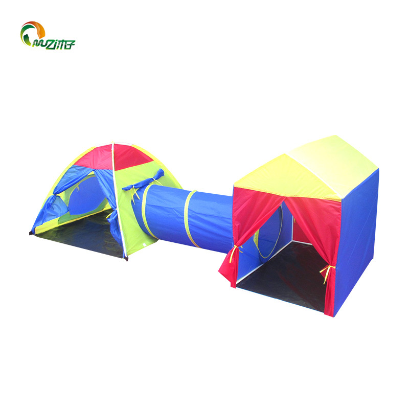 PE waterproof floor house kid tent combo PVC Frame for Indoor-outdoor Children's Tent Z-004