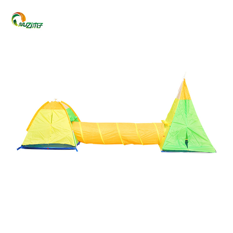 Dome play tent +India tent+ tunnel PE waterproof floor PVC Frame for Indo-outdoor Children's Playing Tent Z-007