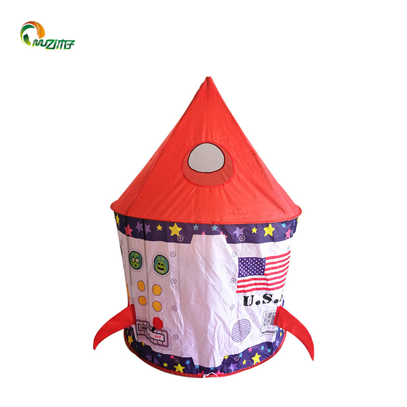 3pc spaceship castle galaxy ball pool tent composite tent set with tunnel kids play tent for boys Z-010