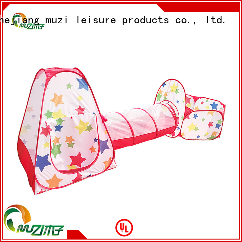 Muzi 100% quality kids tent and tunnel source now for children